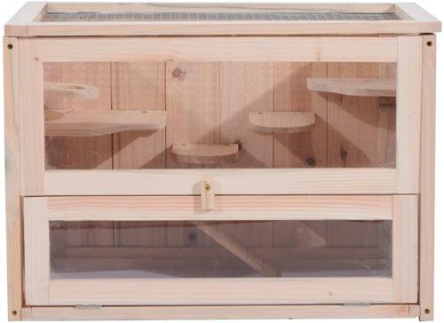 jaula de madera pawhut