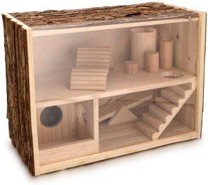 jaula para jerbos de madera